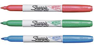 Sharpie Metallic Fine Point Permanent Markers 3/Pkg-Ruby, Sapphire, Emerald