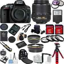 Nikon D5300 Camera Body w/ 18-55 AFP VR+Macro+Filters+32GB VALUE BUNDLE KIT+XTRA