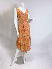 Early 1930s Silk Floral Dress As is