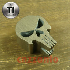 Skull shaped Lanyard Beads Titanium Paracord bead for Knife Tool Zipper pull