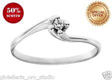 Anello solitario Classico Diamante Vero e Oro Bianco scontato 50% solo € 89,00