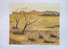 Claude BALTA (1937-1996) Lithographie Fauvisme Provence Fauvism Paysage