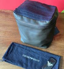 Emporio Armani Men's Olive Green leather backpack bucket bag Y4O172 YLV4J