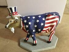 """Cow Parade Figurine """" Uncle Sam """" ( #9119 - Retired and VERY RARE )"""