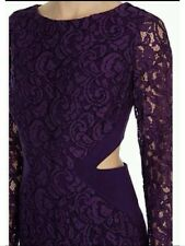 Bnwt🌹Coast Petite🌹Size 10 Grape/Purple Romilla Maxi Lace Dress Cocktail New