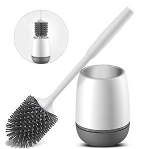 Vandeep Toilet Brushes and Holders, Toilet Brush Holder Set Soft Silicone Toilet