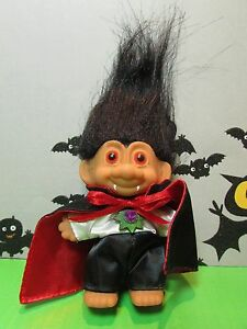 "HALLOWEEN DRACULA/VAMPIRE  - 3"" Russ Troll Doll - NEW IN ORIGINAL WRAPPER"