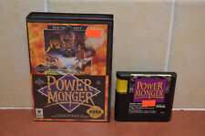 Power Monger Sega Genesis - Game and Box! Tested and Works GREAT!