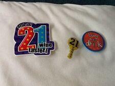 21st Birthday badges