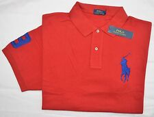 New 5XB 5XL BIG 5X POLO RALPH LAUREN Men's Big Pony polo shirt top Red blue pony