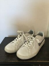 Nike Womens White Leather Silver Swoosh Athletic Shoes, Size 8