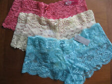 Ladies Lace French Knickers/Shorts,Pink,Yellow or Aqua, sizes 8-10, 12-14, 16-18