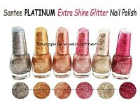 All 6 Colors Santee PLATINUM Extra Shine Glitter Nail Polish *US Seller* Fast~