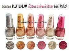All 6 Colors Santee Platinum Extra Shine Glitter Nail Polish *us Seller* Fast