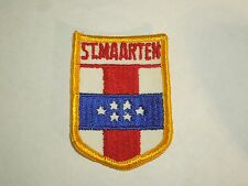 St Sint Maarten Country Flag Shield Shape Patch Flag of the Netherlands Antilles