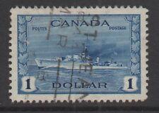 Canada Sc#262 Destroyer,1942-43, Used VF
