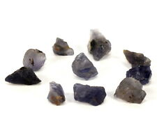 32ct Gem Blue Iolite Cordierite Rough Mineral Stone Crystals - Africa (10pcs)