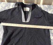 Vintage WW II NAVY Sailor DRESS BLUE CRACKER JACK UNIFORM JUMPER TOP BLOUSE 36 R