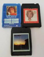 Barry Manilow 8 Track Tapes Set of 3 Greatest Hits, Even Now, This One's For You