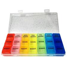7 Day 21 Slots Pill Storage Box Detach Case Weekly Medicine Planner Organizer
