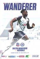 Bolton Wanderers V Rochdale 2019/20 Programme