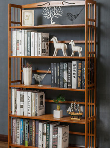 Bamboo Furniture Bookshelf Simple Thin Design with HUGE Payload S3