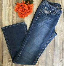 Earl Jean Blue Jeans Boot Cut Size 5 Diamond Rhinestone Accents EUC