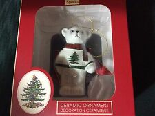 SPODE Christmas TreeTeddy Bear Ornament New in Box original price $30