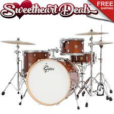 "Gretsch Catalina Maple 4-Piece Shell Pack Drum Kit Walnut Glaze 22"""