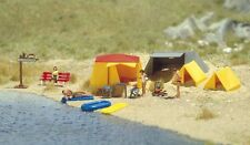 OO/HO Life Paysage - Camping Site AVEC TENTES & LIFEBOAT - Busch 6026 P3