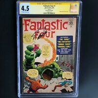 FANTASTIC FOUR #1 (1966 REPRINT) 💥 SIGNED STAN LEE 💥 CGC 4.5 Golden Record GRR