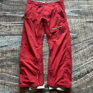 Men's Nike Red Gore-Tex Snowboarding Ski Winter Snow Pants Sz Large Insulated