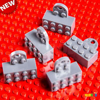 LEGO 2 X 4 Gray Magnet Brick Minifigure Stand Figure Display Grey Base 5-Pack