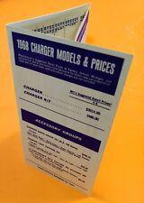 Mopar 68 Dodge CHARGER Dealer Factory Codes Options Prices Hemi 440 383 R/T 318