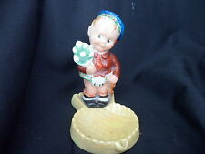 WH GOSS CRESTED CHINA FULLY COLOURED CHEEKY SCOTS BOY ON THISTLE DISH