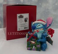 2019 *NEW* Jim Shore Traditions DISNEY Santa Stitch Wrapping Present