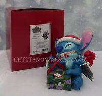 2019 *NEW* Jim Shore Traditions DISNEY Santa Stitch Wrapping Present