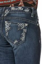 Miss Me Women's Feeling Sparkly Relaxed Boot Cut Jeans Xp7633b Sz 27 X 34