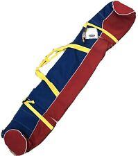 "NWT High Sierra Kids Round Duffel Red Blue Yellow Ski Bag 58"""