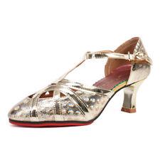 Women Latin Dance Shoes Girls Ladies Ballroom Indoor Outdoor Dancing High Heels