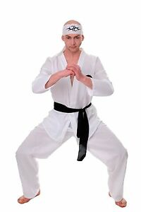 DRESS ME UP Costume Mens Men's Costume 80er Karate Ninja Kungfu Action SIZE S/M