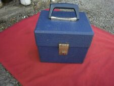VINTAGE-7 INCH RECORD BOX--BLUE--