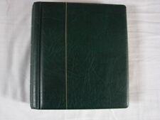 reliure LEUCHTTURM PERFECT DP verte France  + feuilles 1962 à 1983