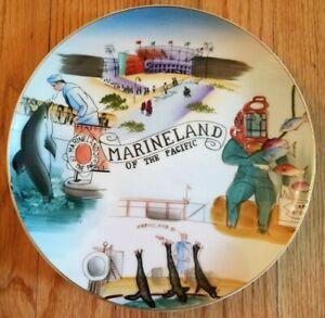 Vintage Handpainted Souvenir Plate Marineland of the Pacific California Japan