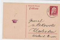 germany 1911 stamps card ref 20989
