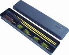 12g 12 Gauge PLASTIC CASED SHOTGUN GUN CLEANING KIT 3 Piece Rod Wool Mop & Brush