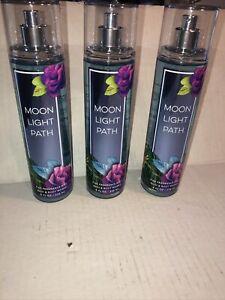 Lot of 3 Bath & Body Works MOONLIGHT PATH  ~ Fine Fragrance Mist  NEW!
