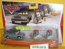 FATHER BURKE + CARDINALS ANTONIO & ANGELO Mattel Disney Cars 1:55 Metal Diecast