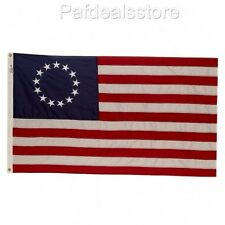 American Colonial Flag Betsy Ross US 13-Star Patriotic Nylon Embroidered Proud