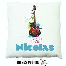 Personalised guitar music children Cushion Pillow Gift Birthday Present